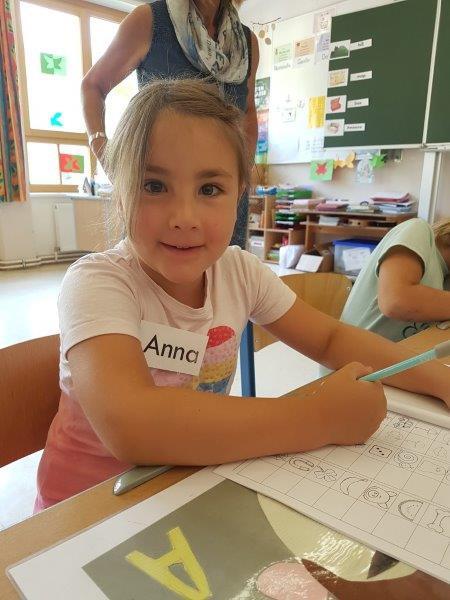Schulanfängerbesuch am 20.06.2018 Anna