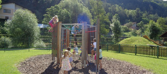 Pause im Schulgarten